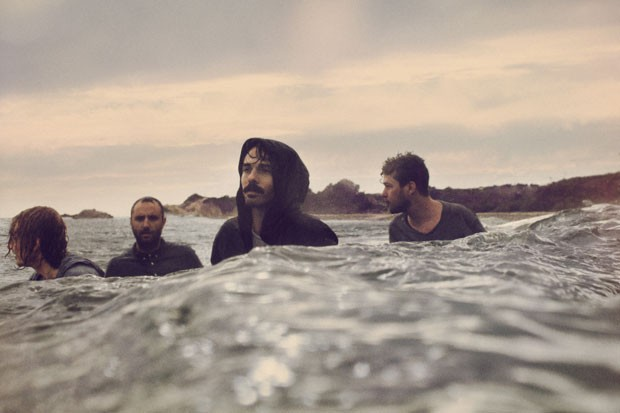 Local Natives' Taylor Rice (center) / Photo by Bryan Sheffield