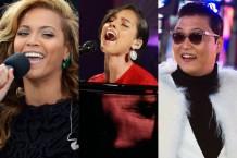 Beyoncé, Alicia Keys & PSY / Photo by Stan Honda/AFP/Getty, Taylor Hill/WireImage, Michael Stewart/WireImage