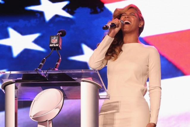 beyonce star spangled banner national anthem