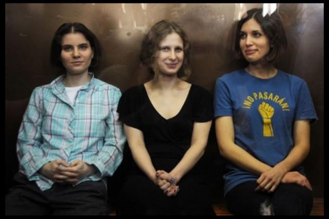 pussy riot, footage banned, Yekaterina Samutsevich, Maria Alyokhina, Nadezhda Tolokonnikova
