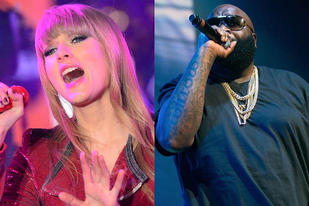 Taylor Swift and Rick Ross (Emmanuel Dunand/AFP/Getty & Paul A. Hebert/Getty)