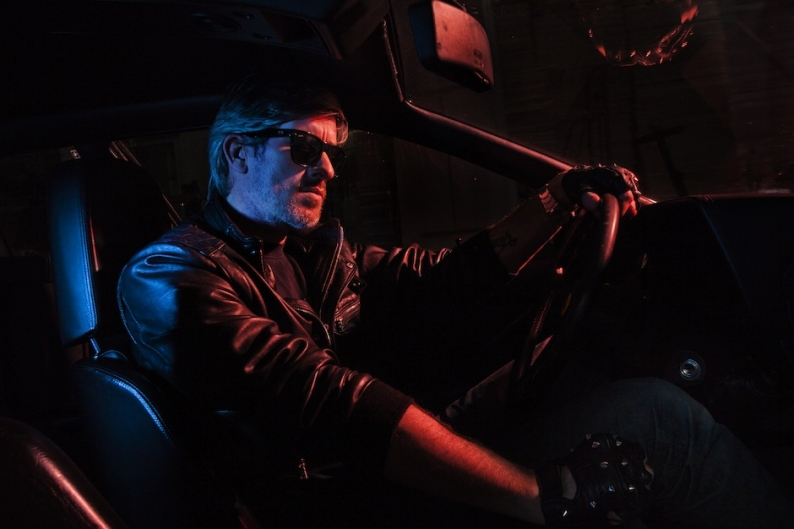"""""""I don't carry a gun. I drive."""" - Kavinsky / Photo by Vincent Desailly"""