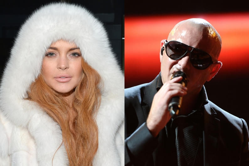 """Lindsay Lohan Pitbull Lawsuit Lyrics """"Give Me Everything"""""""