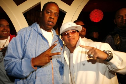 Héctor El Father with Jay-Z / Photo by Shareif Ziyadat, Getty Images