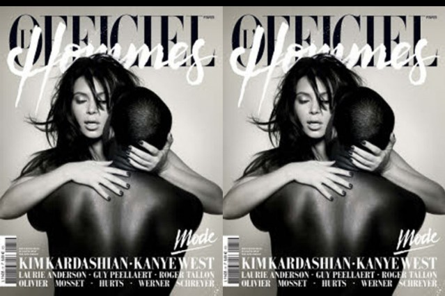 kanye west kim kardashian l'officiel french fashion cover