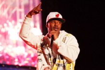 Cam'ron, who popularized 'No homo' / Photo by Imeh Akpanudosen for Getty Images