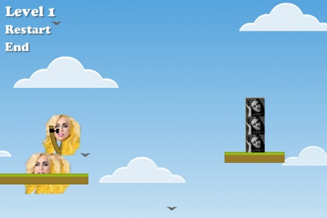 Angry Birds Spoof Throw Lady Gaga Adele Angry Stans