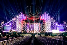 Ultra Music Festival's main stage, a day before the collapse / Photo from UMF's Facebook