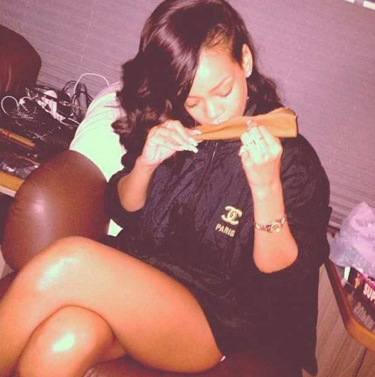 One of Rihanna's many weed-centric Instagram posts