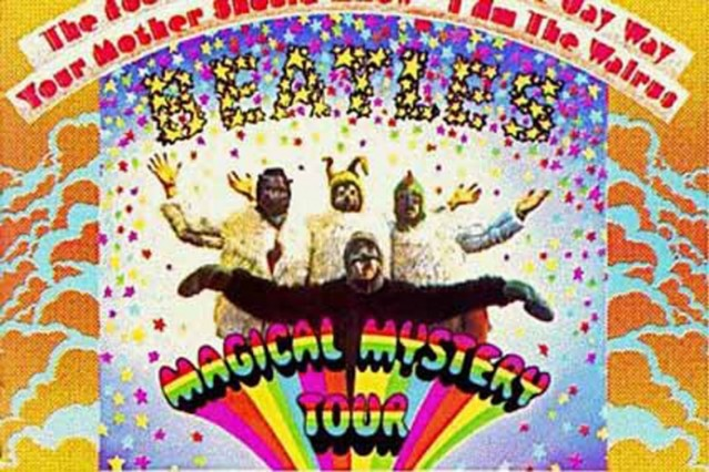 john lennon, george harrison, the beatles, magical mystery tour, auction