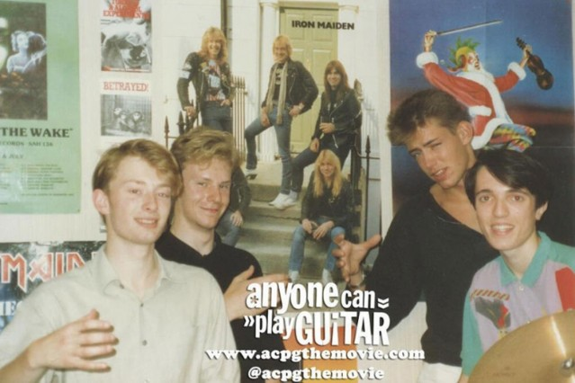 Radiohead 80s Photo Anyone Can Play Guitar Documentary On a Friday Oxford