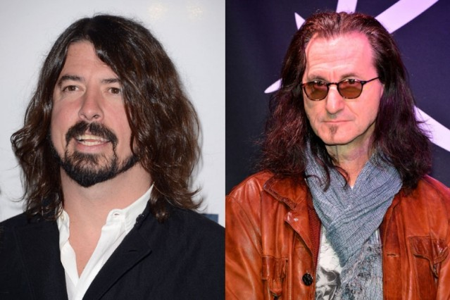 dave grohl, geddy lee, rock and roll hall of fame