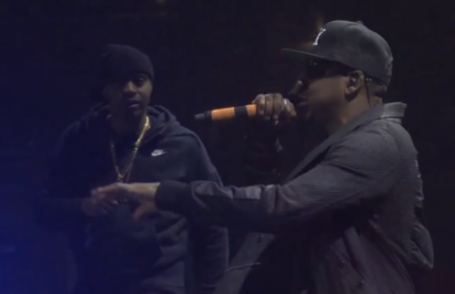 Watch Nas and Jay Z Keep the Peace Onstage at Coachella 2014