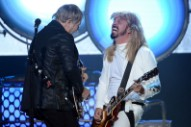 Watch Bewigged Dave Grohl Ponder Rush's Coolness at Rock Hall Induction