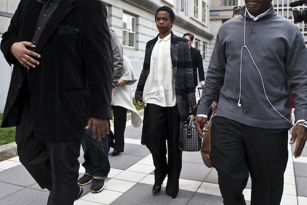Ms. Lauryn Hill arrives at court / Getty Images