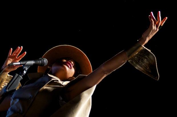 Erykah Badu onstage in Spain. / Photo by Getty Images