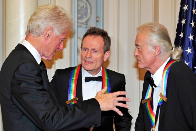 Bill Clinton Led Zeppelin Reunion Hurricane Sandy 12-12-12 Kennedy Center Honors