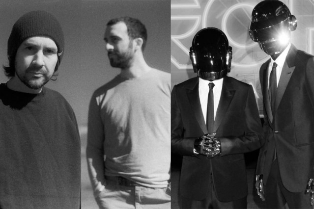 Boards of Canada and Daft Punk / Photo by Getty Images (Daft Punk)