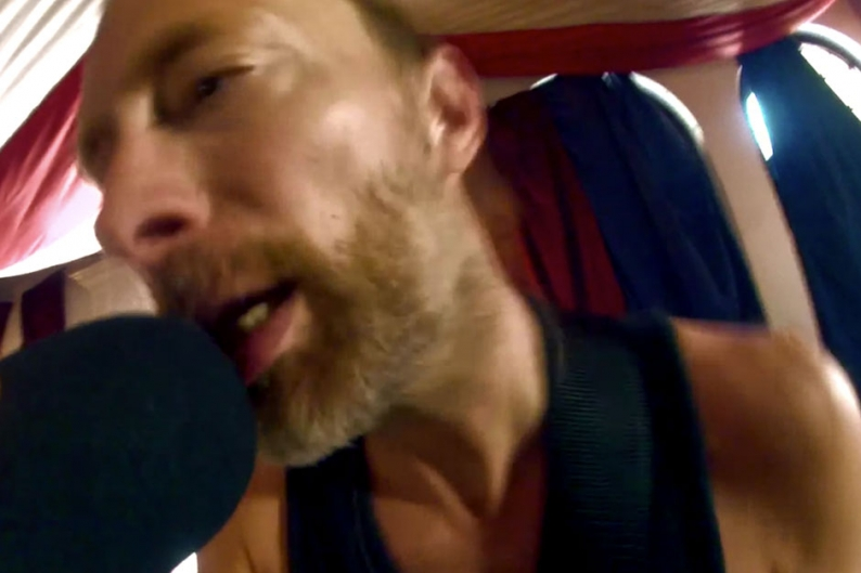 Thom Yorke Goes Sexily, Shirtlessly 'Amok' in Latest Atoms for Peace Practice Video