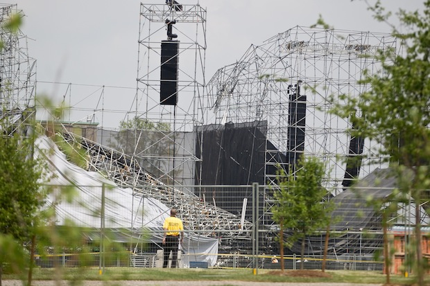 The remnants of the stage in Toronto