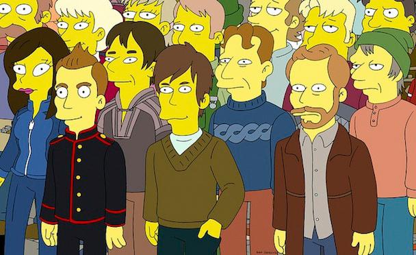 Sigur Rós on <i>The Simpsons</i>, (L-R) Jónsi, Orri Páll Dýrason, Georg Hólm