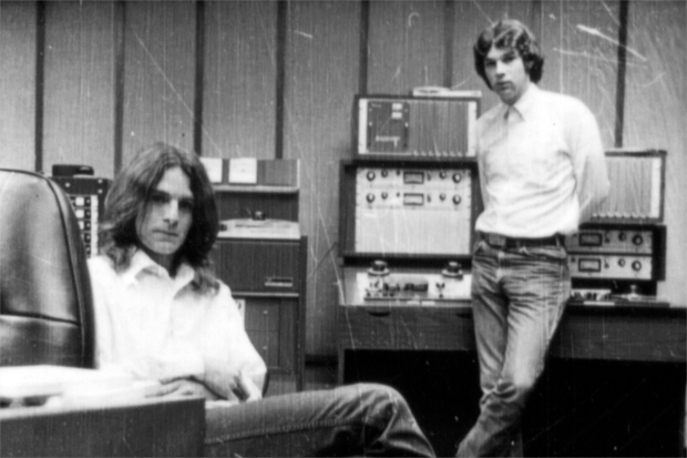 Alex Chilton and Chris Bell at Ardent Studios, Memphis, TN in 1971 / Photo courtesy of Magnolia Pictures