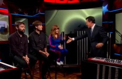 Watch the Postal Service Make Decade-Late TV Debut, With Jenny Lewis, on 'Colbert'