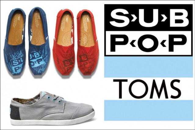 Sub Pop Toms Shoes Limited Edition Silver Jubilee