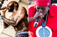 Death Grips' MC Ride & Flavor Flav / Photo by Ian Witlen & Wilson Lee