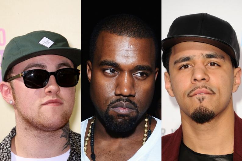 Kanye West, J. Cole, Mac Miller Billboard Chart Albums