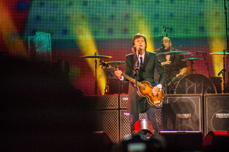 Paul McCartney at Bonnaroo 2013 / Photo by Ian Witlen