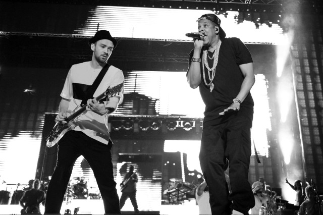 Jay Z and Justin Timberlake, Rogers Centere, Toronto, July 17, 2013
