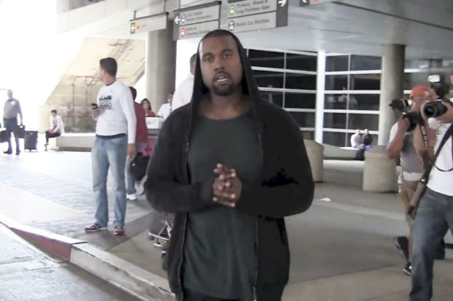 Kanye West Paparazzi Assault LAX Camera Don't Talk Video