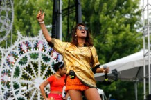 M.I.A. and ferris wheel at Pitchfork Music Festival 2013