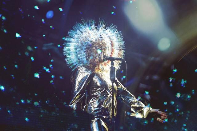 Björk at Pitchfork Music Festival 2013 / Photo by Tonje Thilesen