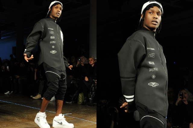 A$AP Rocky walks the runway at the Hood By Air fall 2013 fashion show during MADE Fashion Week in New York City on February 10, 2013.