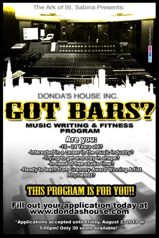 Kanye West, Donda's House, Got Bars?, flyer