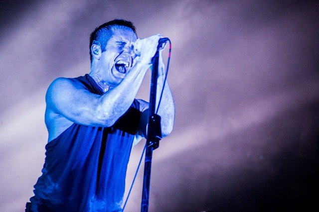 Nine Inch Nails Trent Reznor at Lollapalooza on Friday