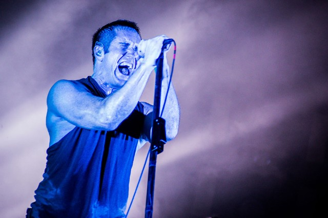 Nine Inch Nails Trent Reznor at Lollapalooza on Friday