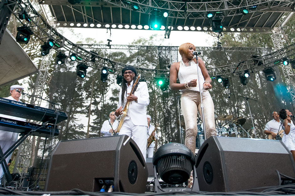 Chic featuring Nile Rodgers at Outside Lands, San Francisco, August 9, 2013