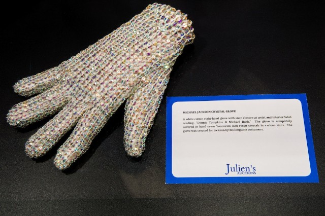 One of Michael Jackson's Swarovski crystal gloves