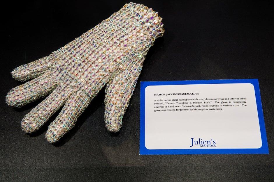 One of Michael Jackson's Swarovski crystal gloves