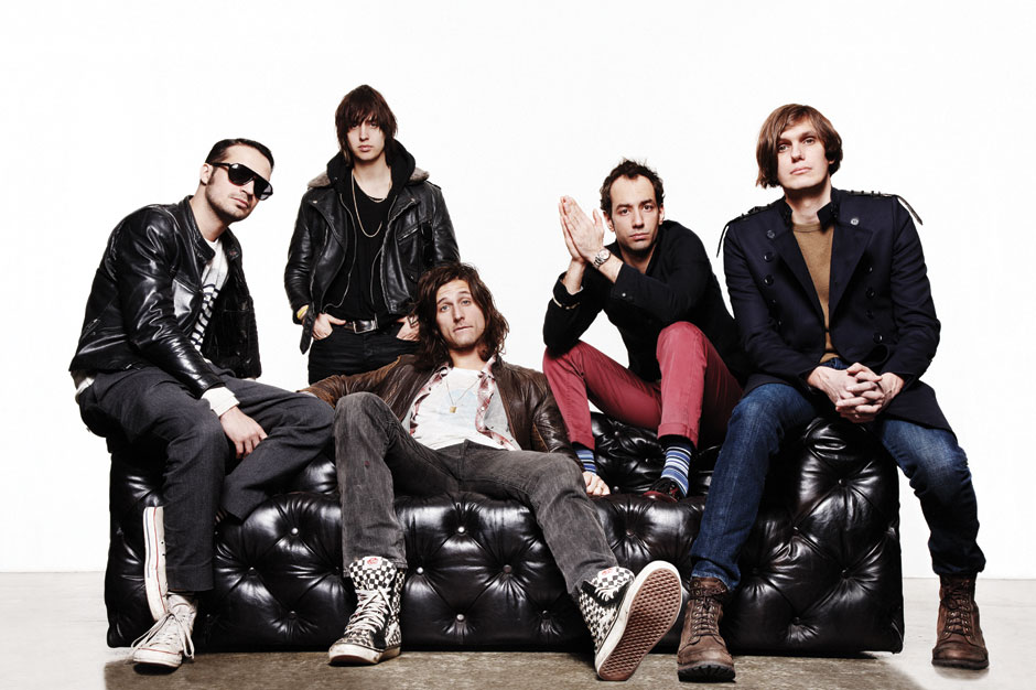 The Strokes, shot for SPIN's April 2011 cover at Milk Studios, NYC, February 4, 2011 / Photo by Dan Martensen
