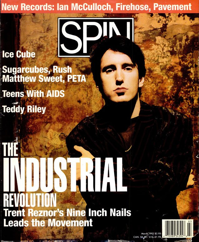 Trent Reznor, SPIN, March 1992 / Photo by Kevin Westenberg