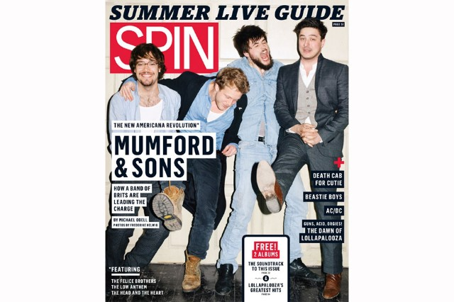 Mumford & Sons' June 2011 cover, shot for SPIN by Frederike Helwig