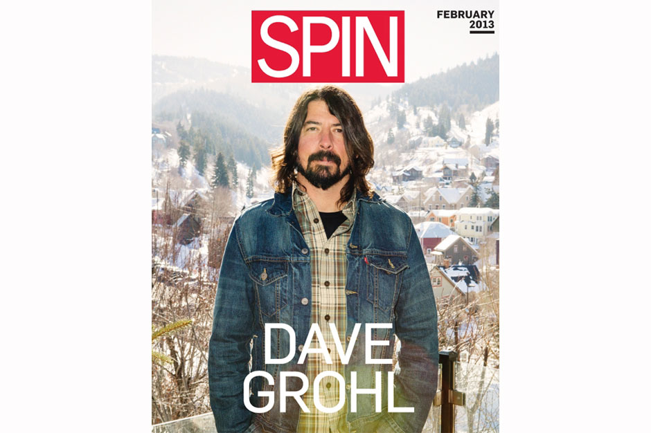 Dave Grohl shot for SPIN's February cover / Photo by Nathaniel Wood