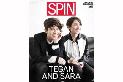 Tegan and Sara shot for SPIN's January cover by Brian Sorg / Styling by Jacqueline Rezak