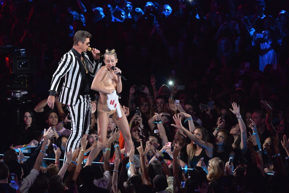 Miley Cyrus, Robin Thicke, MTV, video music awards, VMA, Parents Television Council