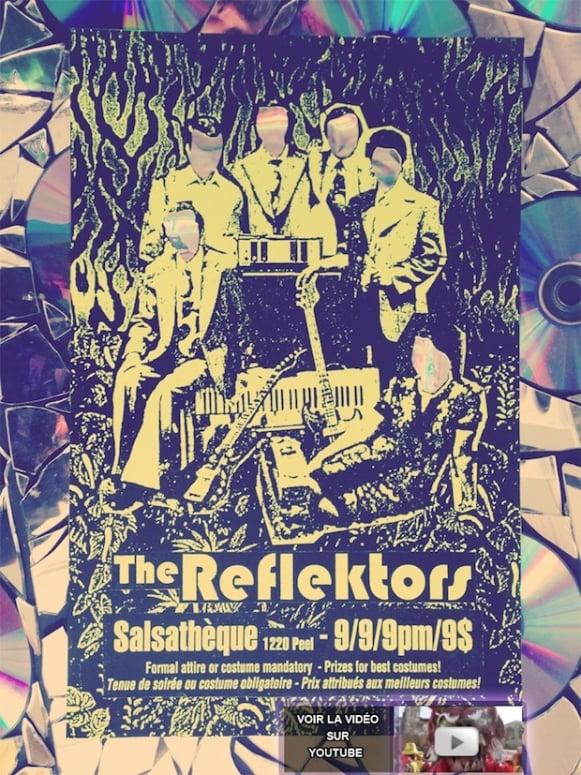 Arcade Fire, 'Reflektor,' the Reflektors, salsa club, Salsatheque, poster