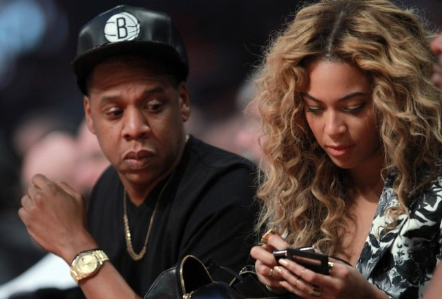Jay and Bey at the 2013 NBA All-Star Game